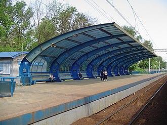 Malenkovskaya railway station - Image: Malenkovskaya station