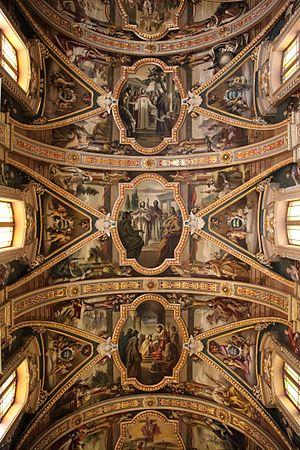 St. Publius Parish Church - Ceiling frescoes