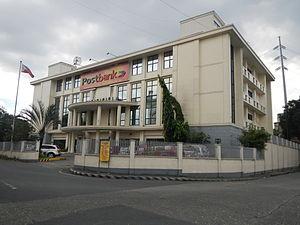 Philippine Postal Corporation - Postbank facade.