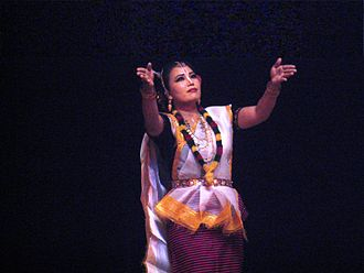 East Zone Cultural Centre - A Manipuri performer strikes an evocative pose.