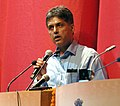 """Manish Tewari addressing at the inauguration of the """"Indian Cinema 100 (Celebrating a Century An Audio Visual Voyage)"""" Exhibition to mark the commencement of the week long - Centenary Film Festival, in New Delhi.jpg"""