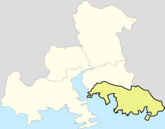 Jinhae-gu - Image: Map Jinhae si
