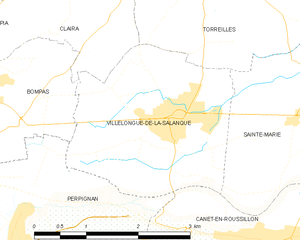 Villelongue-de-la-Salanque - Map of Villelongue-de-la-Salanque and its surrounding communes