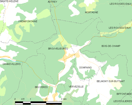 Mapa obce Brouvelieures