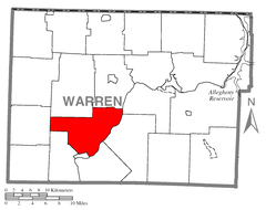 Map of Deerfield Township, Warren County, Pennsylvania Highlighted.PNG
