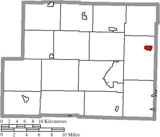 Hopedale, Ohio - Image: Map of Harrison County Ohio Highlighting Hopedale Village