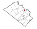 Map of Hokendauqua, Lehigh County, Pennsylvania Highlighted.png