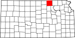 Map of Kansas highlighting Washington County.svg