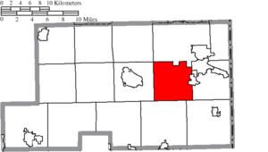 Boardman Township, Mahoning County, Ohio - Image: Map of Mahoning County Ohio Highlighting Boardman Township