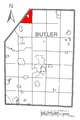 Map of Mercer Township, Butler County, Pennsylvania Highlighted.png