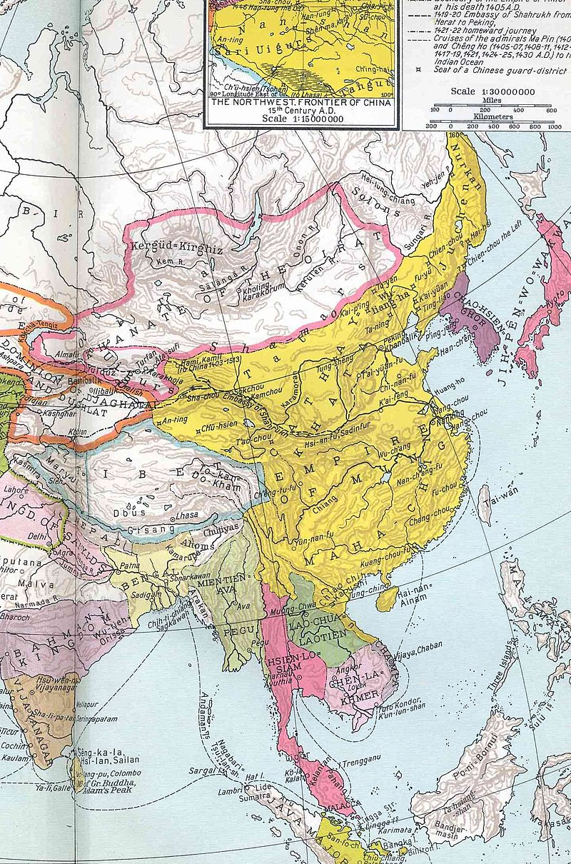 Ming China in 1415 during the reign of the Yongle Emperor