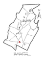 Map of Roaring Spring, Blair County, Pennsylvania Highlighted.png
