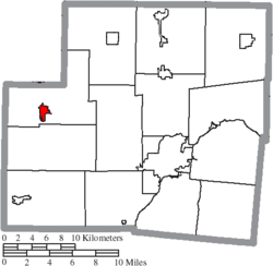 Location of Fort Loramie in Shelby County