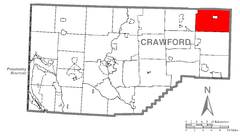 Map of Sparta Township, Crawford County, Pennsylvania Highlighted.png