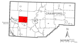 Location of Summit Township in Crawford County