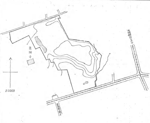 Map of Toshimagaoka Cemetery From Japanese Government gazette.png