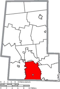 Location of Darby Township in Union County