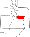 State map highlighting Carbon County