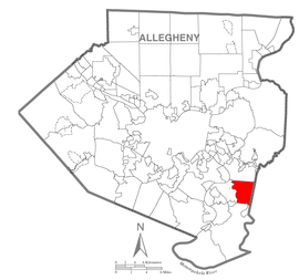 Map of White Oak, Allegheny County, Pennsylvania Highlighted.png