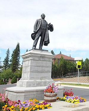 Montana Tech of the University of Montana - A 1906 statue of Marcus Daly by Augustus Saint-Gaudens is located at the entrance of the university.