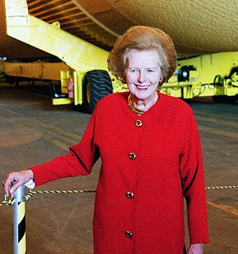 Thatcher touring the Kennedy Space Center in early 2001 Margaret Thatcher.jpg