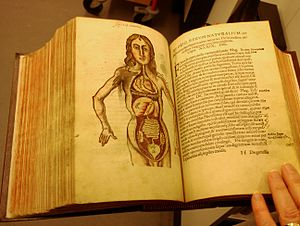 Gregor Reisch - Anatomy in Margarita Philosophica - 1565 - now in Science Museum at Wroughton