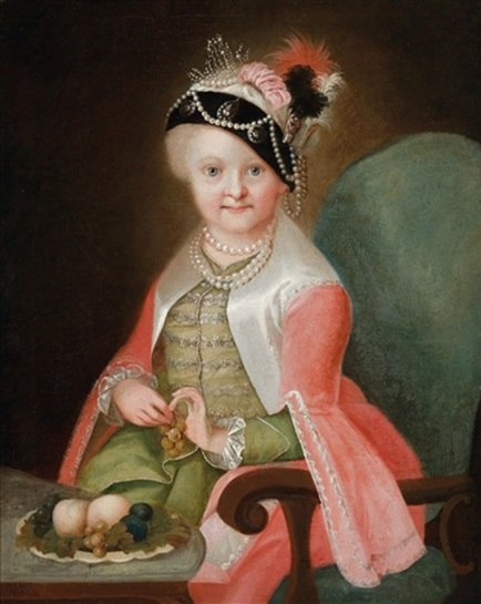 Maria Josepha of Austria as a child in Hungarian costume