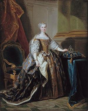 Marie Leszczyńska - Maria Leszczyńska, by Jean-Baptiste van Loo