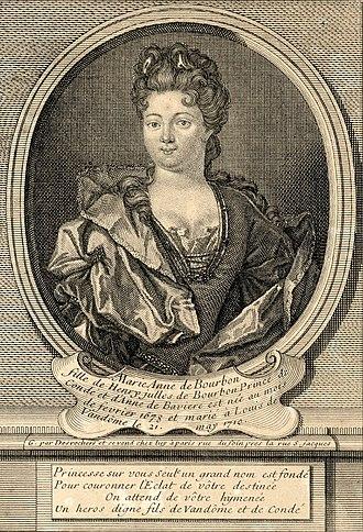 Duchess of Vendôme - Image: Marie Anne de Bourbon, Duchess of Vendôme