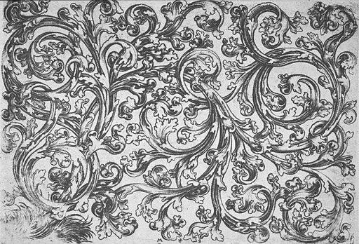 Martin Schongauer - Querfüllung mit Rasenbüschel (L 110)