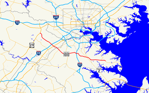 Maryland Route 100 - Image: Maryland Route 100 map