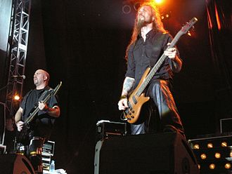 HammerFall - Stefan Elmgren left the band in 2008 and Fredrik Larsson re-joined in 2007