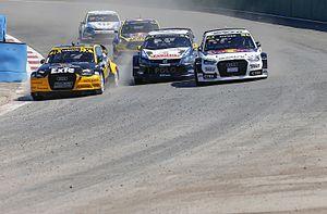 2015 World RX of Argentina - Event winner Larsson leads Ekström, Kristoffersson, Timerzyanov and Bryntesson