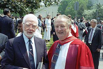 Owen Maynard - Jim Floyd and Owen Maynard at the University of Toronto following Maynard's D.Eng. ceremony