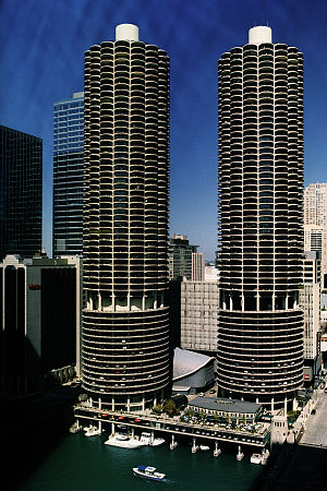 Mixed-use development - Marina City in Chicago, a mixed-use skyscraper