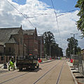 Meadows Centre tram stop nearing completion (geograph 4131469).jpg