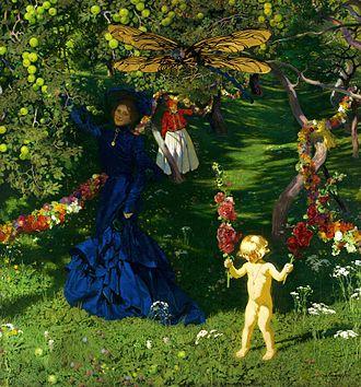 Józef Mehoffer - Strange garden (1902-1903), National Museum in Warsaw.