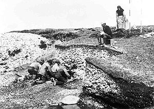 Atlantic Ocean - Excavation of the Ertebølle middens in 1880