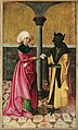Meister der Legendenszenen - Die Überbringung der falschen Botschaft durch den Teufel (Legende der Hll. Cosmas und Damian) - 4970 - Kunsthistorisches Museum.jpg