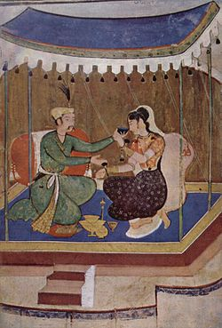 A 17th-century Mughal painting