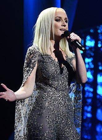 Anna Bergendahl - Anna Bergendahl during Melodifestivalen 2019