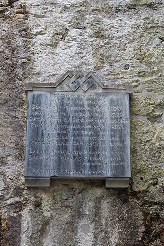 Piaras Feiritéar - Image: Memorial to 17th & 18th century Munster poets, Muckross Abbey, Cill Airne 2