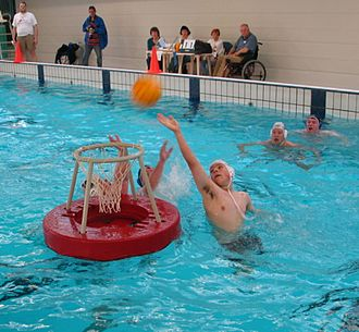 Water basketball - Match of water basketball