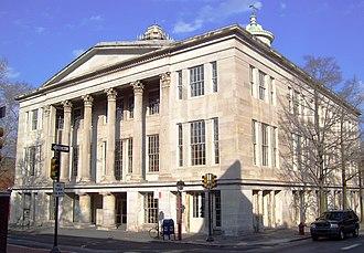 Merchants' Exchange Building (Philadelphia) - The front of the building (2012)