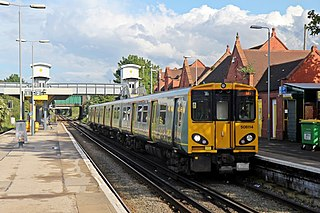 Railway station on the West Kirby & New Brighton branches of the Wirral line in England