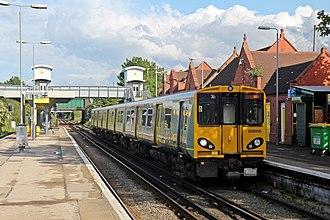 Birkenhead North railway station - Class 508 on Platform 3 in 2014