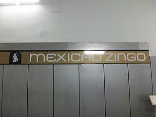 Metro Mexicaltzingo Mexico City metro station