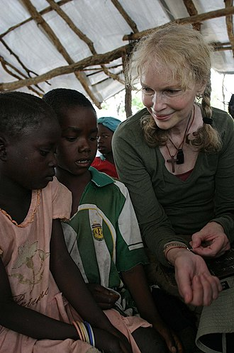 Mia Farrow - Farrow during a visit to Central African Republic