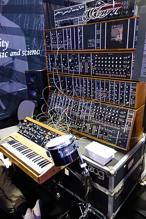 Michael Boddicker - Image: Michael Boddicker Modular System Moog System 55 (1976), minimoog (1975), Moog Bode Vocoder (1979), Formula Sound Multiple Resonance Filter Array (1979), with Moog Percussion Controller model 1130 (portrait) 2015 NAMM Show