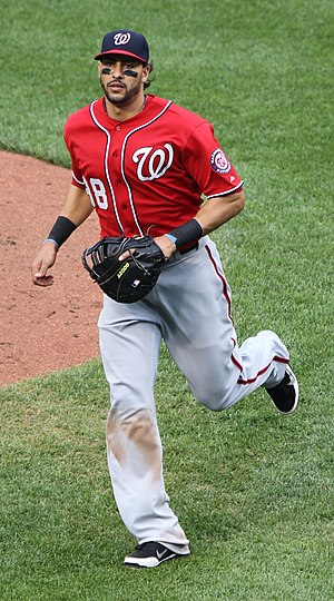 Michael Morse - Michael Morse playing for the Washington Nationals in 2011